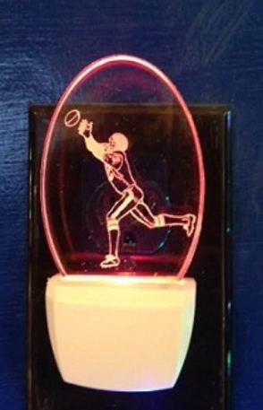 FOOTBALL PLAYER NIGHT LIGHT