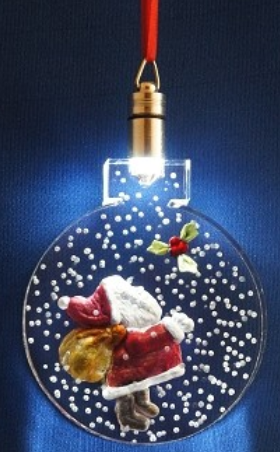 LIGHTED ORNAMENT - SANTA