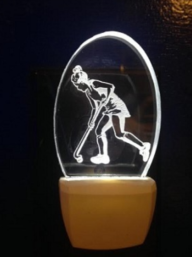 FEMALE FIELD HOCKEY PLAYER NIGHT LIGHT