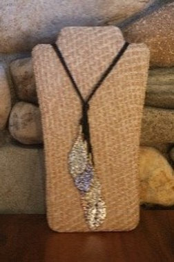 Tri Colored Leaf Necklace