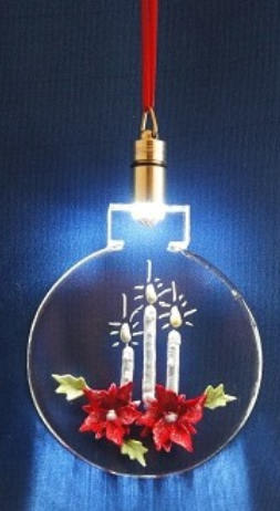 CUSTOM LIGHTED ORNAMENT - POINSETTIAS