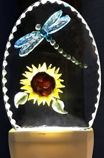 DRAGONFLY & SUNFLOWER NIGHT LIGHT