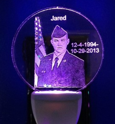 CUSTOM PHOTO NIGHT LIGHT circle