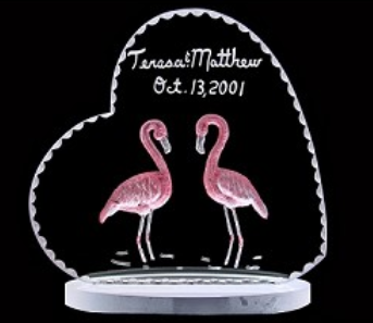 FLAMINGO CAKE TOPPER/WEDDING GIFT