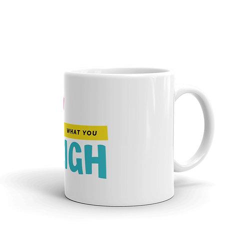 Pay what you weigh mug