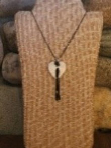 White Angel Wing Necklace with Tassel