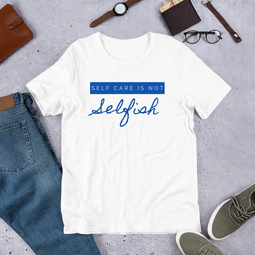 Self Care Blue Script