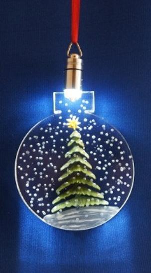 CUSTOM LIGHTED ORNAMENT TREE