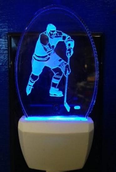 ICE HOCKEY PLAYER NIGHT LIGHT 2