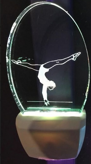 FEMALE GYMNAST NIGHT LIGHT