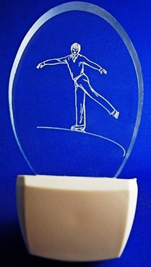 MALE ICE SKATER NIGHT LIGHT