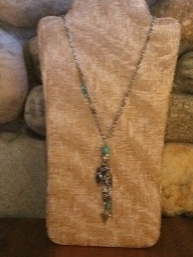 Turquoise and Silver Arrow Detail Necklace