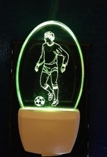 MALE SOCCER PLAYER NIGHT LIGHT