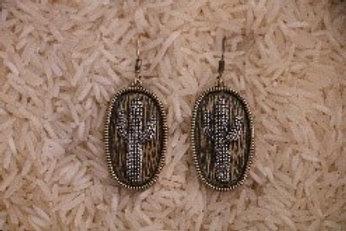 Two Tone Cactus Earrings