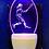 Thumbnail: FEMALE BASEBALL PLAYER NIGHT LIGHT