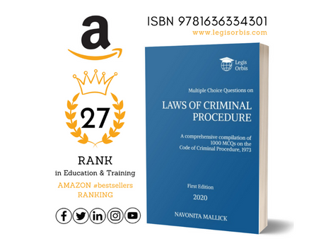 Laws on Criminal Procedure by Legis Orbis bags 27th Rank in Amazon Top 100 #bestsellers