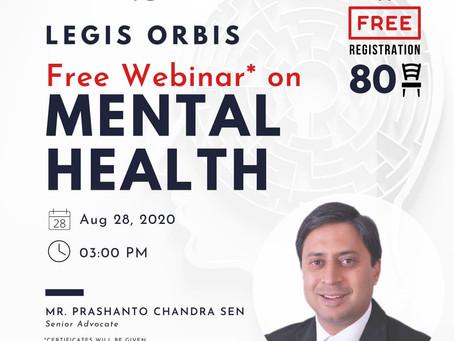 Free #webinar on #mentalhealth
