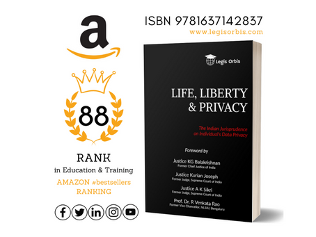 Life, Liberty & Privacy by Legis Orbis bags 88th Rank in Amazon Top 100 #bestsellers