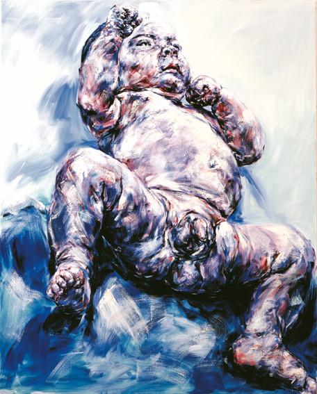 Philippe Pasqua, Bloc 10, Bebé, 2001, oil on canvas, 200 x 160 cm