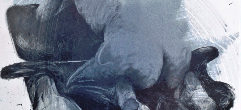 Philippe Pasqua, Anne sur Eames, 2010, mixed media on paper, 80 x 70 cm