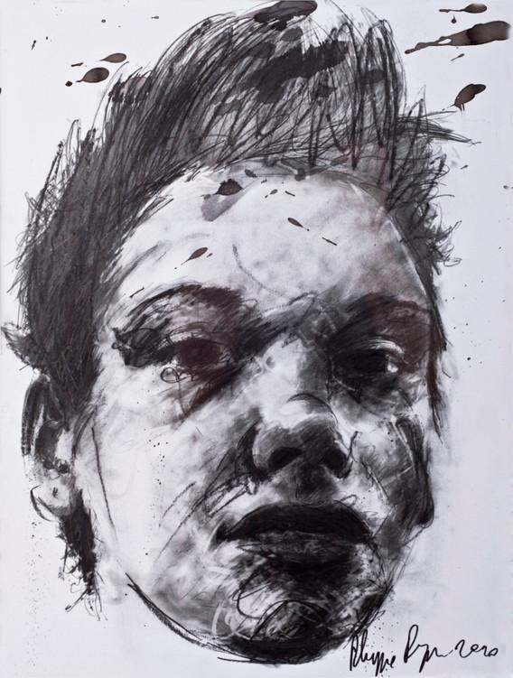 Philippe Pasqua, Constance, 2010, mixed media on canvas, 80 x70 cm