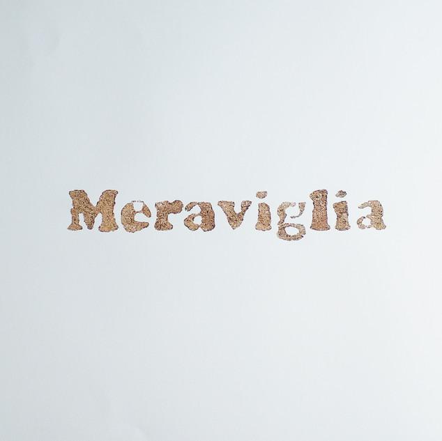 ossequi, Meraviglia, rust emulsion on paper