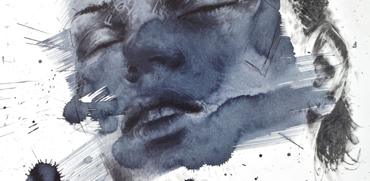 Philippe Pasqua, Philippine, 2010, mixed media on paper, 80 x 70 cm