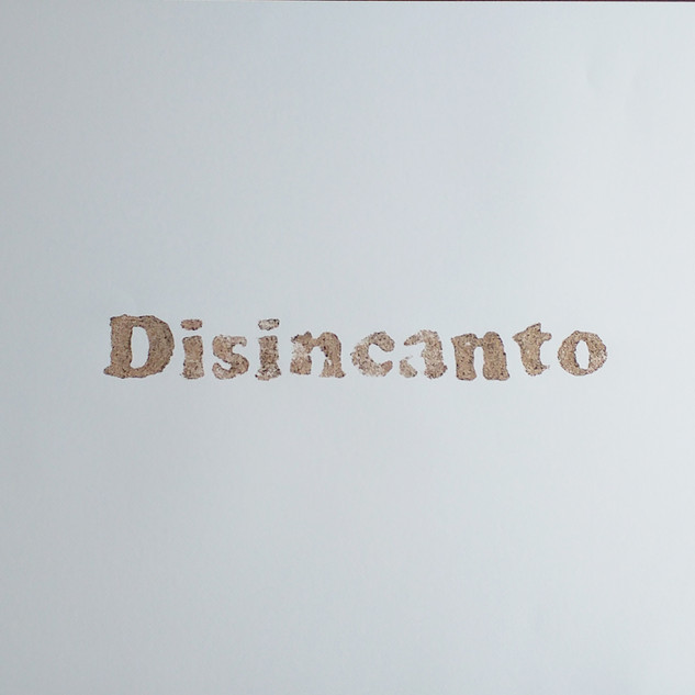 ossequi, Disincanto, rust emulsion on paper