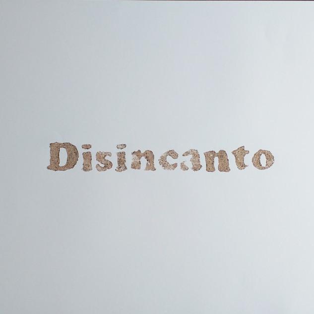 ossequi, Disincanto, rust emulsion on paper