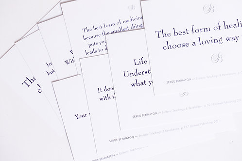 Postkarten-Set – Zitate