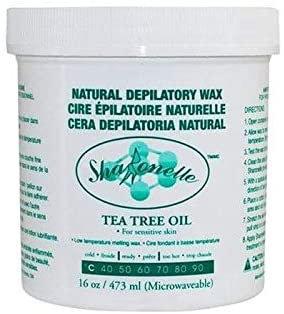 Sharonelle Tea Tree Oil Cream Microwavable Wax 16 oz