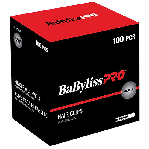 BaBylissPRO Double Prong Metal Curl Clips BESC3UCC