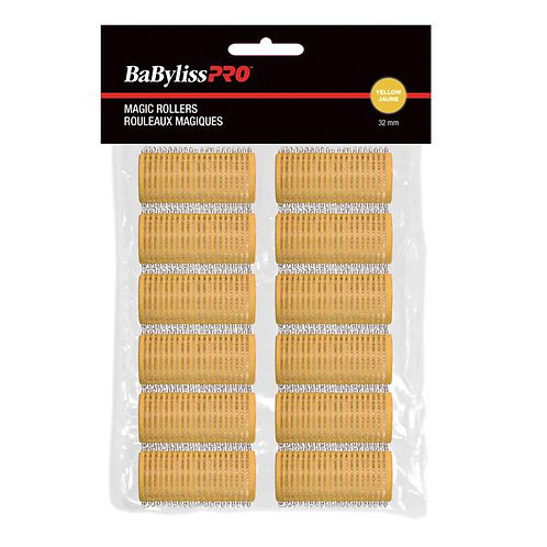 BaBylissPRO Self-Gripping Velcro Roller Yellow