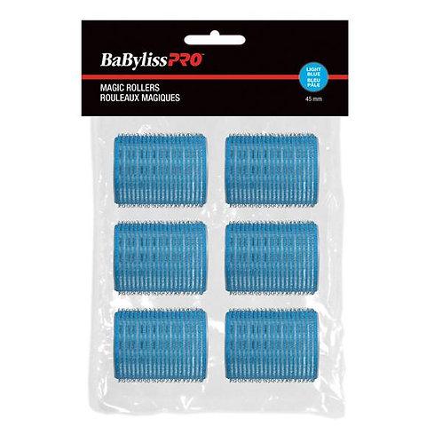 BaBylissPRO Self-Gripping Velcro Roller Light Blue