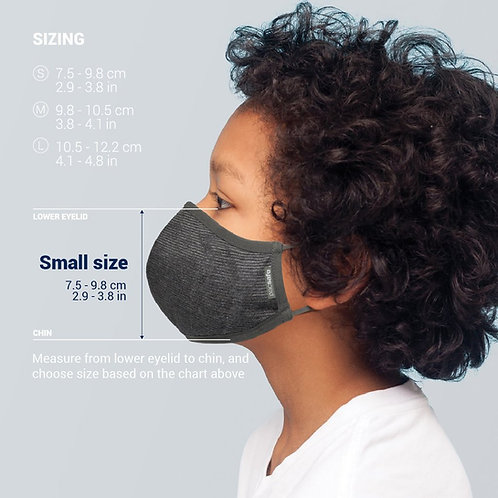 Pacsafe Protective & Reusable Silver iON Face Mask  (Size Small)