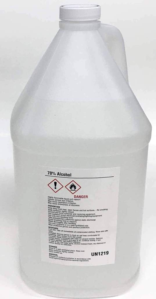 70% Alcohol Gallon sold at Carpi Beauty Supplies