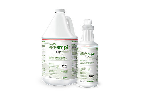PREempt RTU Disinfectant Solution PPE