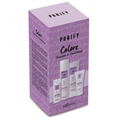 Purify Colore Shampoo and Conditioner plus free travel sizes