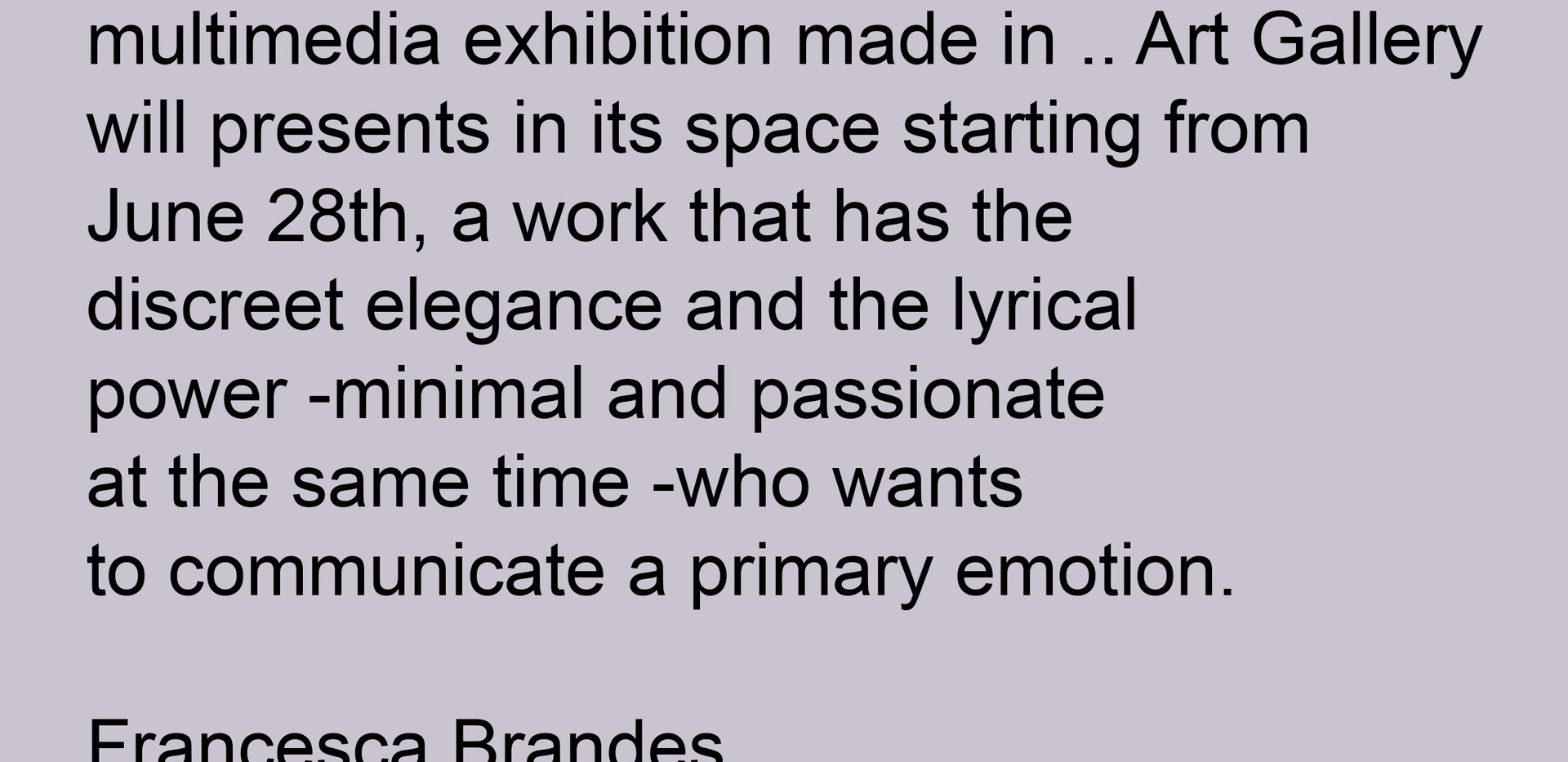 art Critic Francesca Brandes