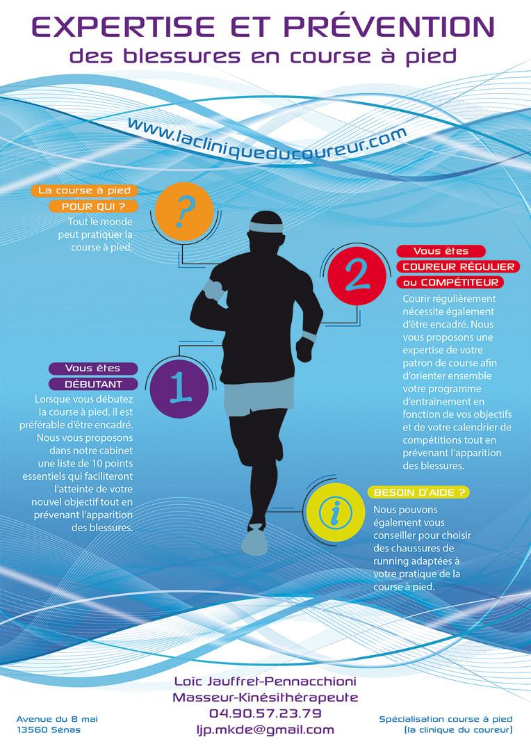 Affiche - La clinique du coureur - Prévention des blessures