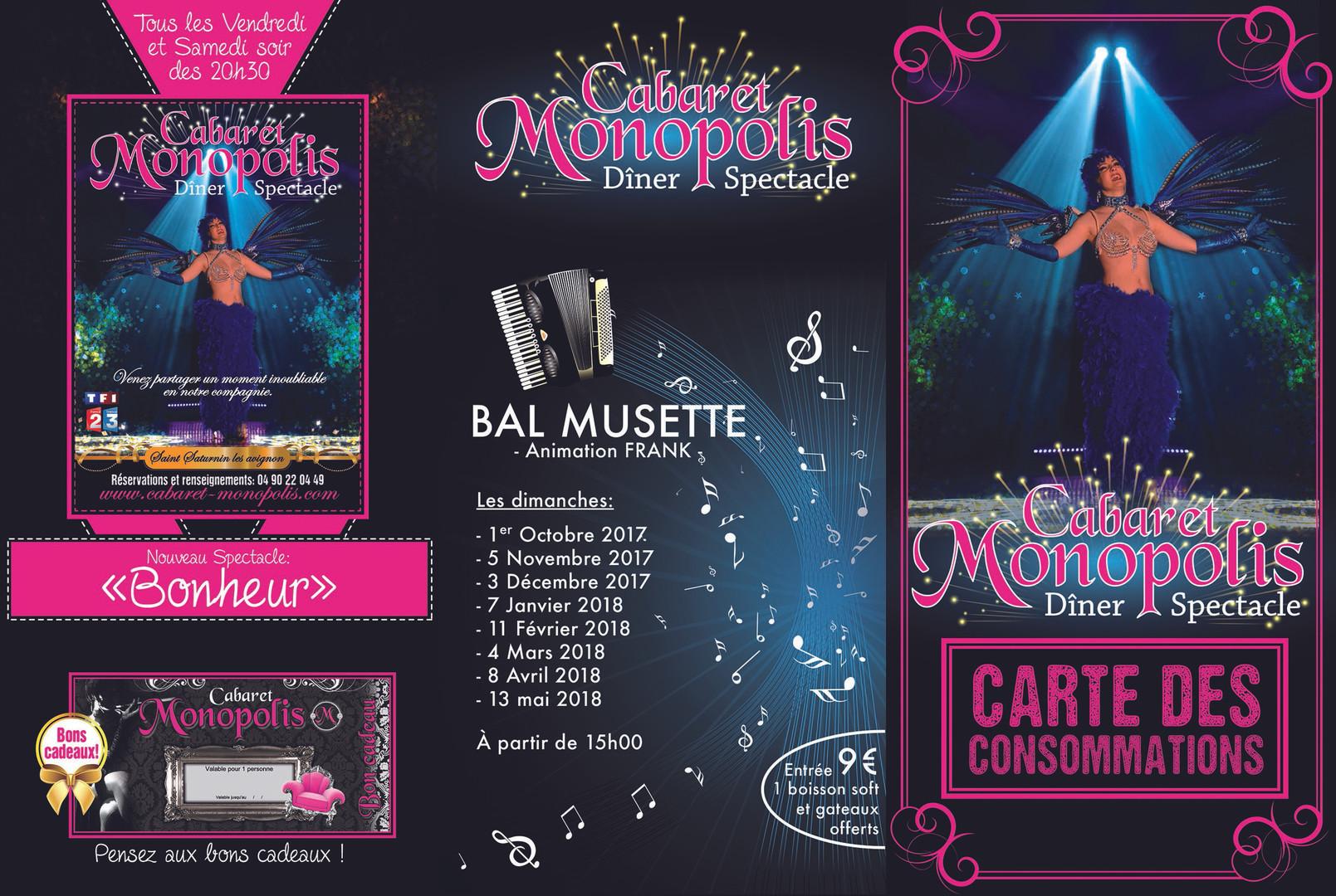 Dépliant A4 3 volets - Monopolis Carte des consommations - Extérieur
