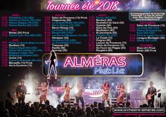 Flyers A5 - Almeras Music Live - Calendrier de tournée