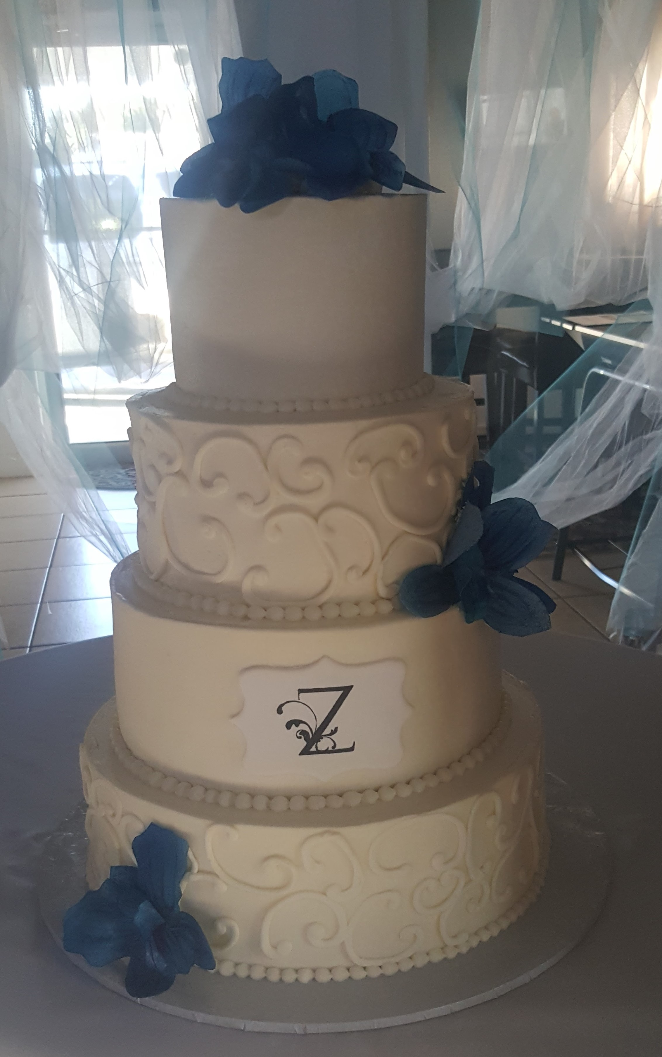 Buttercream 4 tier Wedding Cake