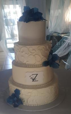Buttercream 4 tier Wedding Cake