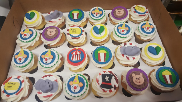 Circus Themed Cupcakes