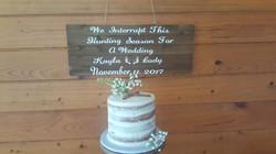 Naked Single Tier Wedding Cake