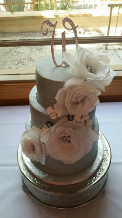 Wafer Flowers and Buttercream