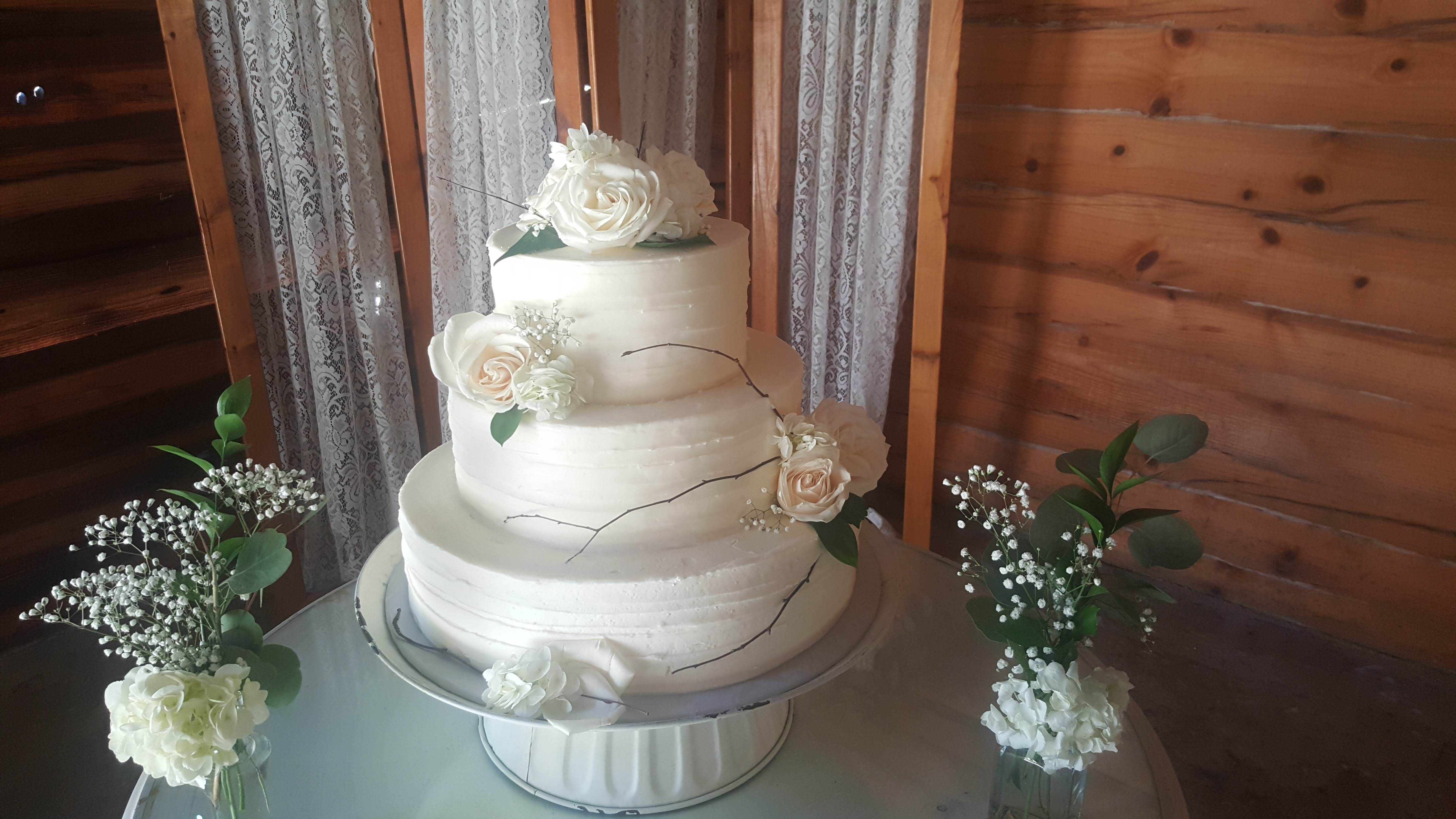 3 Tier Buttercream Ruffles