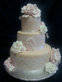 Wedding rose and lace