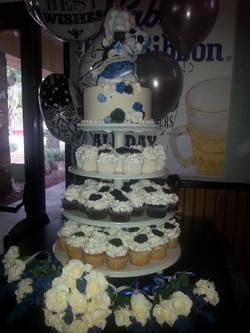 Wedding skull cakes